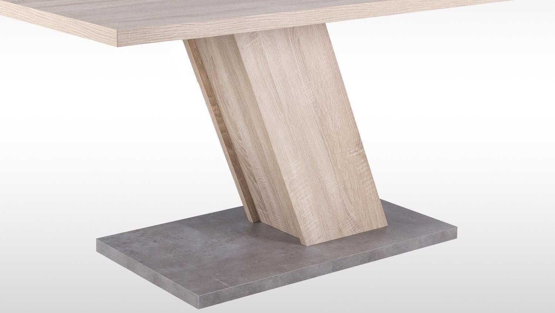 esstisch innsbruck tisch sonoma eiche und betonoptik mit s ulenfu. Black Bedroom Furniture Sets. Home Design Ideas