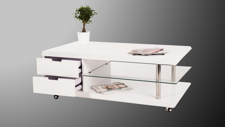 couchtisch simon beistelltisch in wei hochglanz und klarglas. Black Bedroom Furniture Sets. Home Design Ideas