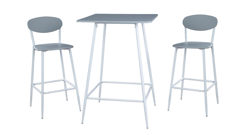 barset lino bargruppe wei grau bartisch und 2 barhocker. Black Bedroom Furniture Sets. Home Design Ideas