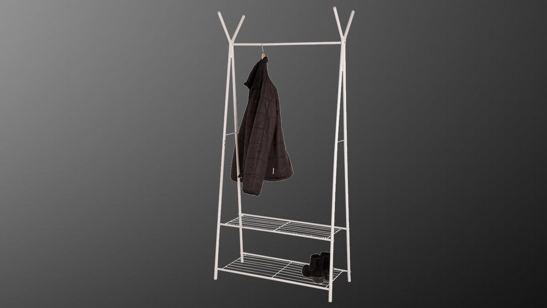 Kleiderstander Weis Metall ~ Garderobe mila metall weiß kleiderständer mit schuhablage