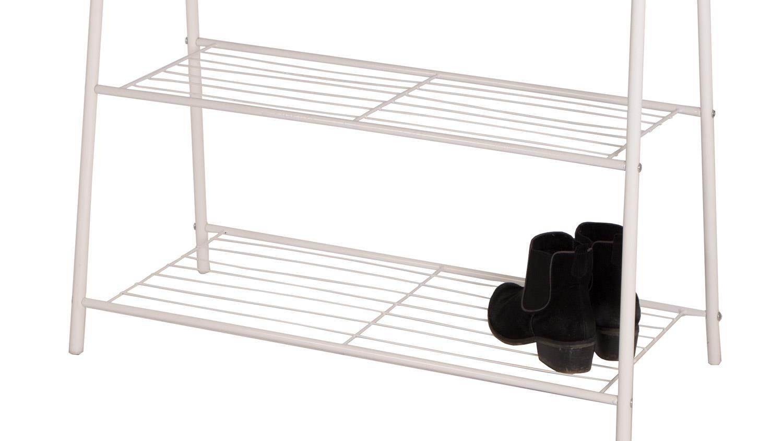 garderobe mila metall wei kleiderst nder mit schuhablage. Black Bedroom Furniture Sets. Home Design Ideas