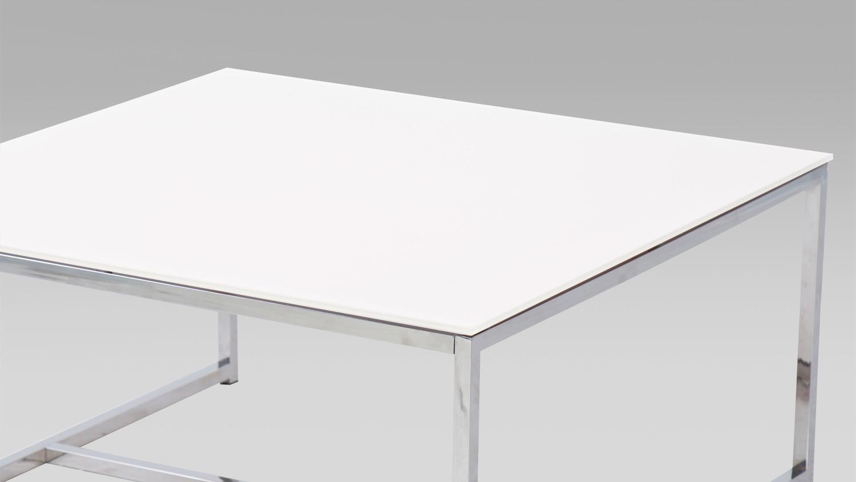 Couchtisch Chic 1 Beistelltisch Wohnzimmertisch Weiss Mit Glas 80x80