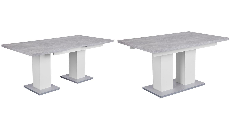 esstisch hamburg beton wei silber ausziehbarer tisch. Black Bedroom Furniture Sets. Home Design Ideas