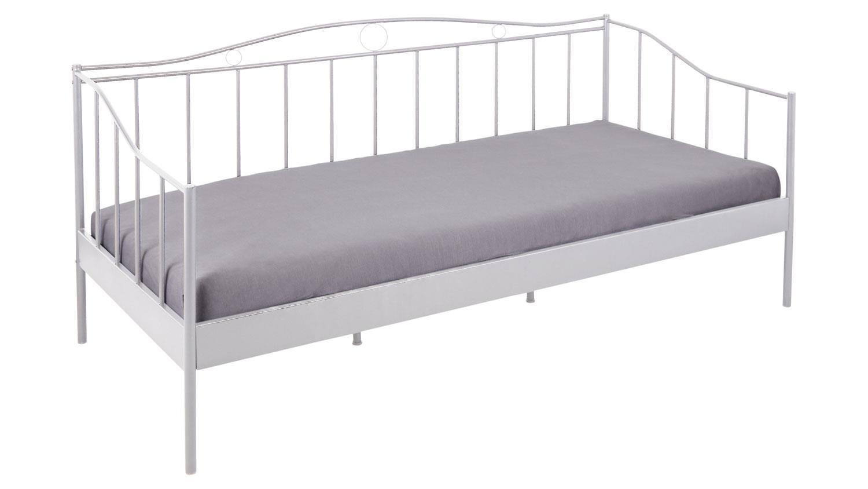 bett fine gestell metall in wei lackiert metallbett. Black Bedroom Furniture Sets. Home Design Ideas