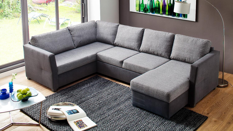 wohnlandschaft alan schwarz grau mit funktionen 200x293. Black Bedroom Furniture Sets. Home Design Ideas