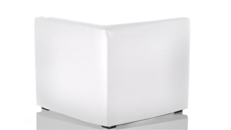 sitzw rfel kubus kabo polsterhocker in wei h he 45 cm. Black Bedroom Furniture Sets. Home Design Ideas