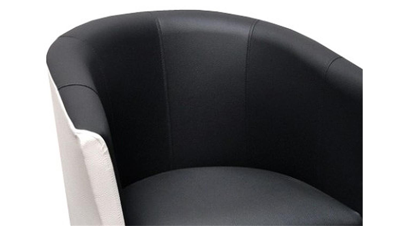 Clubsessel weiß grau  Cocktailsessel COCK Sessel Clubsessel in weiß und schwarz