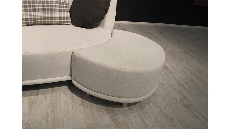 sofa sonia beige mit hocker und kissen braun 220cm breit. Black Bedroom Furniture Sets. Home Design Ideas