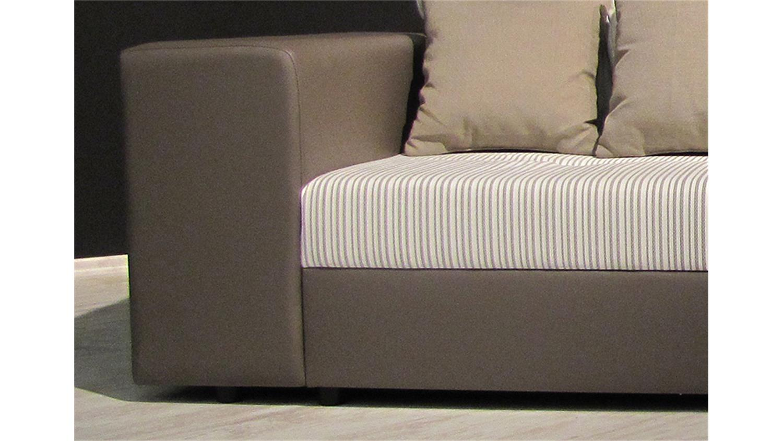 bigsofa giga braun und beige inkl kissen 305 cm. Black Bedroom Furniture Sets. Home Design Ideas