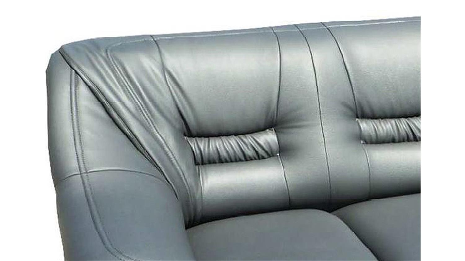 Sofa milano 3 sitzer couch polsterm bel in grau 200 cm for Couch 200 cm