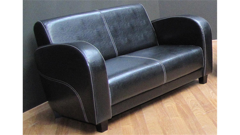 Ledersofa schwarz 2 sitzer  Sofa ANTIS 2 Sitzer Polstermöbel in Antik schwarz 153