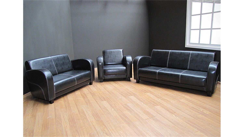 3 2 1 garnitur antis polstergarnitur in antik schwarz. Black Bedroom Furniture Sets. Home Design Ideas
