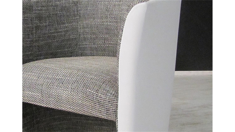 Cocktailsessel weiß  Clubsessel Cock Sessel in weiß und Stoff hellgrau