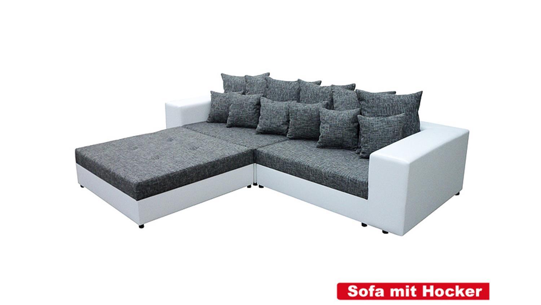 Bigsofa Giga Weiss Grau Inkl Kissen 305 Cm