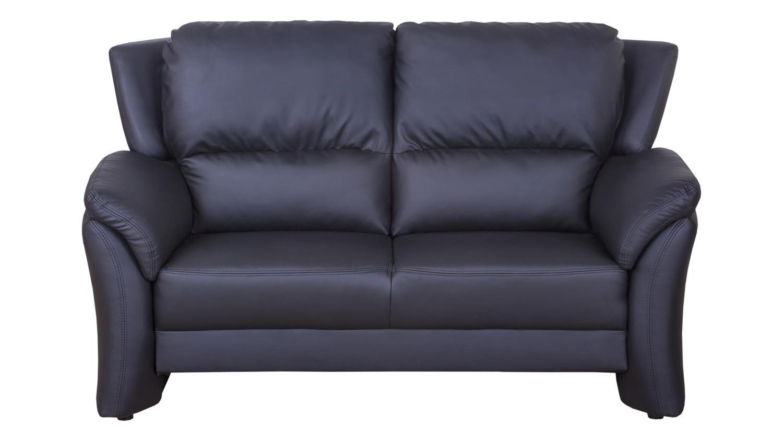 sofa 2 sitzer pisa polsterm bel couch in lederlook schwarz. Black Bedroom Furniture Sets. Home Design Ideas