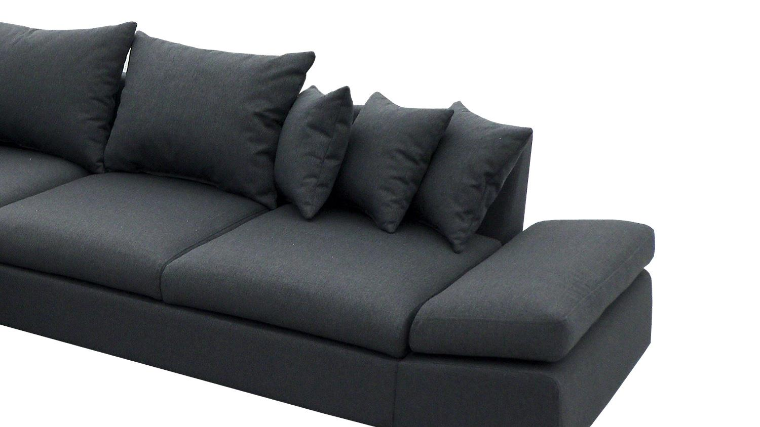 ecksofa scoota dunkelgrau inkl kissen nosagfederung rechts. Black Bedroom Furniture Sets. Home Design Ideas