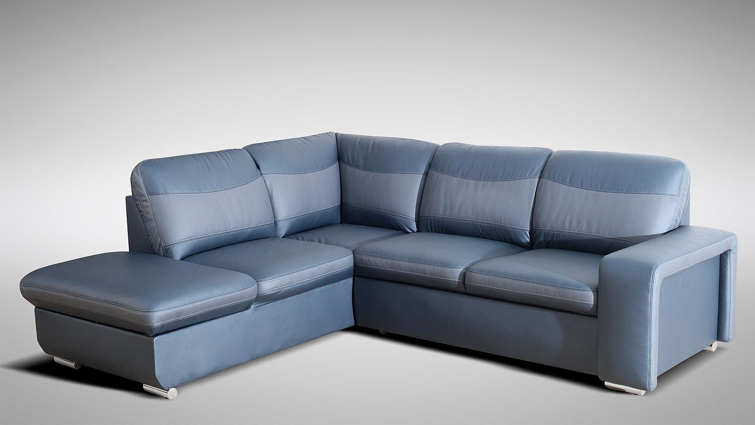 ecksofa road blau grau inkl funktion nosagfederung links. Black Bedroom Furniture Sets. Home Design Ideas