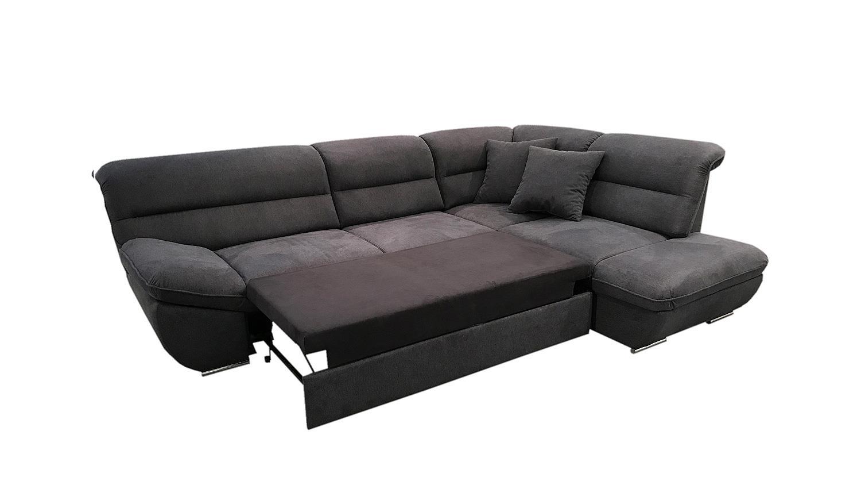 ecksofa toledo sofa wohnlandschaft schwarz mit schlaffunktion 288 cm