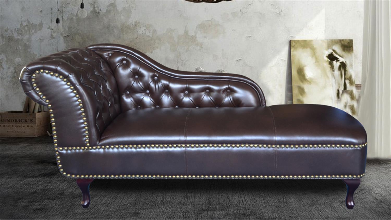 recamiere chesterfield kanapee dunkelbraun gl nzend. Black Bedroom Furniture Sets. Home Design Ideas