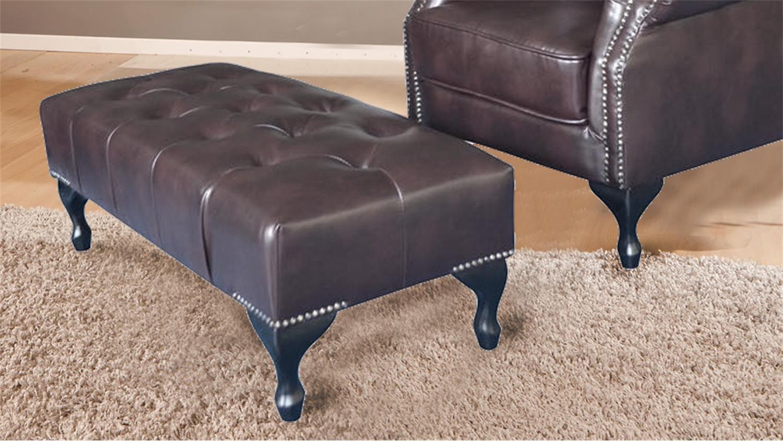 hocker fu hocker chesterfield dunkelbraun gl nzend. Black Bedroom Furniture Sets. Home Design Ideas