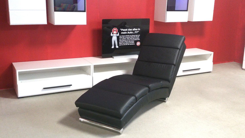 Polsterliege relaxliege chaiselongue liegesessel schwarz for Fernseh liegesessel