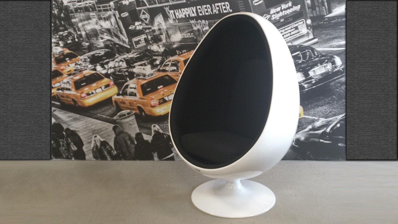 Lounge sessel retro  Sessel Retro Design Sitzei SPACE EGG weiß Stoff schwarz