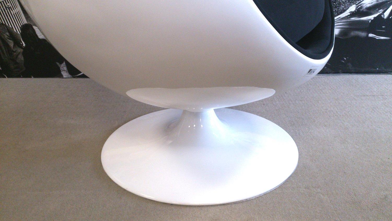 Lounge sessel retro schwarz  Sessel Retro Design Sitzei SPACE EGG weiß Stoff schwarz