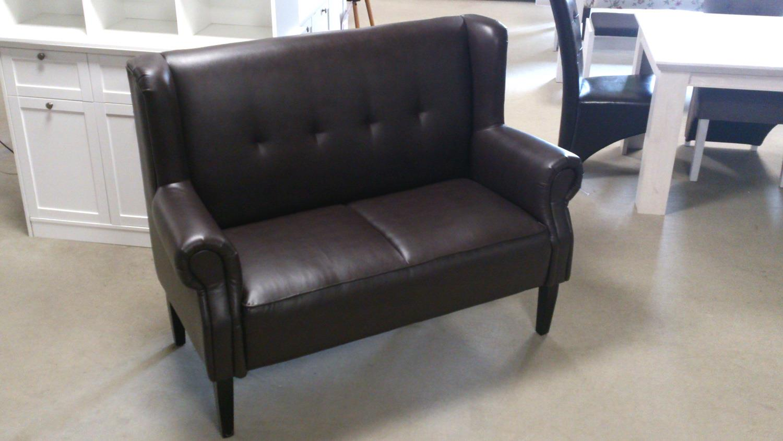 chesterfield speisesofa k chensofa 2 sitzer dunkelbraun gl nzend. Black Bedroom Furniture Sets. Home Design Ideas