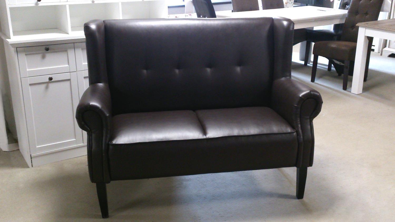 speisesofa chesterfield 2 sitzer dunkelbraun gl nzend. Black Bedroom Furniture Sets. Home Design Ideas