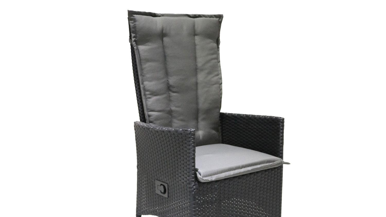 relaxliege polyrattan gartenstuhl schwarz anthrazit verstellbar. Black Bedroom Furniture Sets. Home Design Ideas