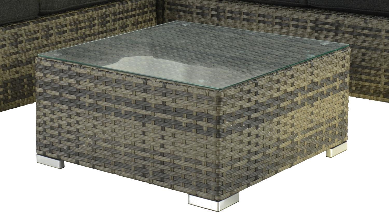 garten lounge ecksofa gartenm bel polyrattan sitzgruppe mit couchtisch. Black Bedroom Furniture Sets. Home Design Ideas