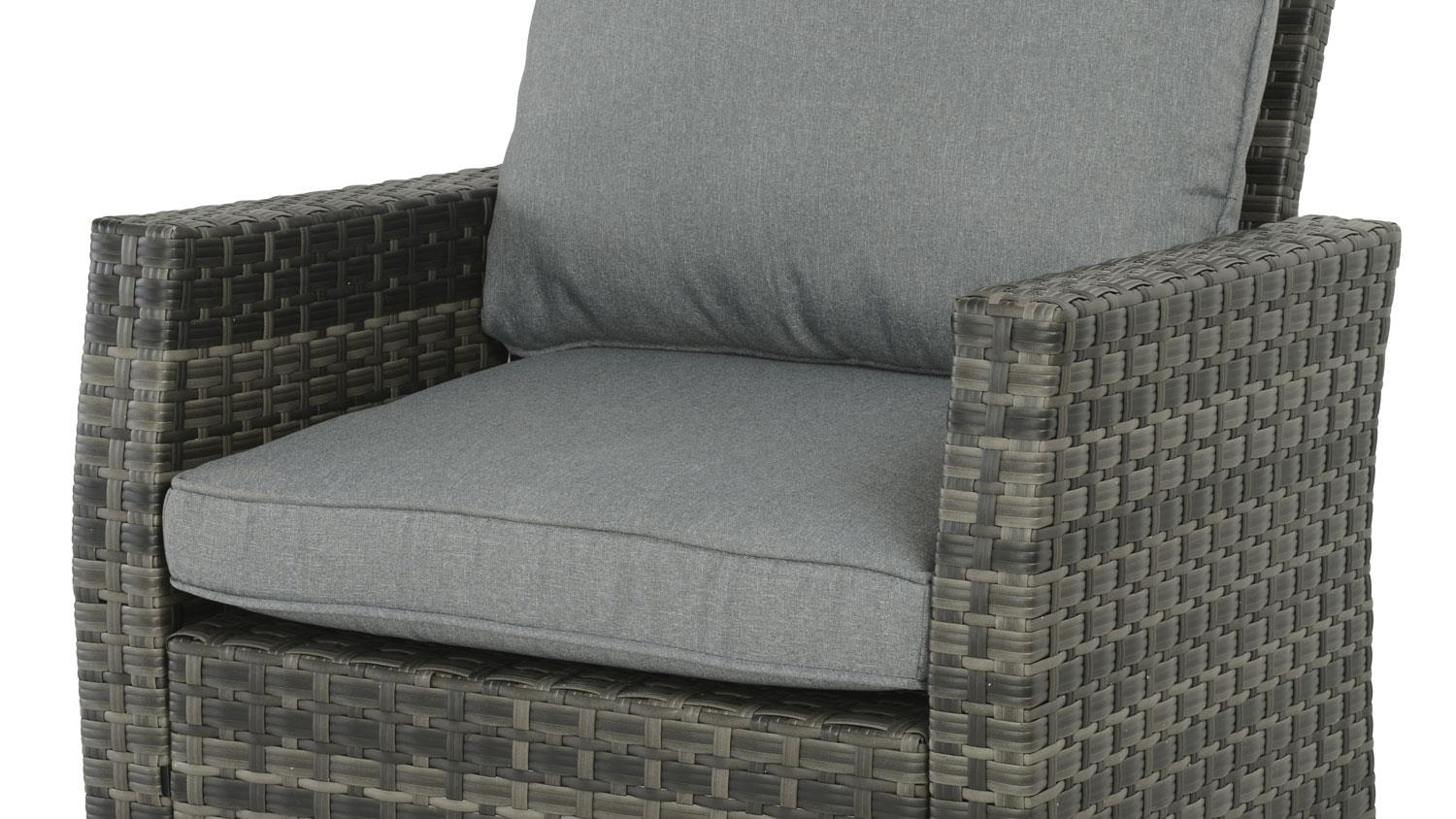sessel madison outdoor lounge chair in polyrattan grau braun