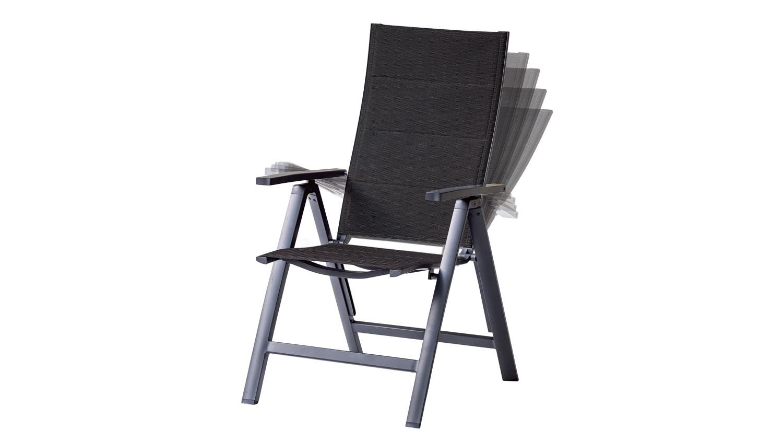 gartenstuhl livorno relaxstuhl in anthrazit r cken verstellbar. Black Bedroom Furniture Sets. Home Design Ideas