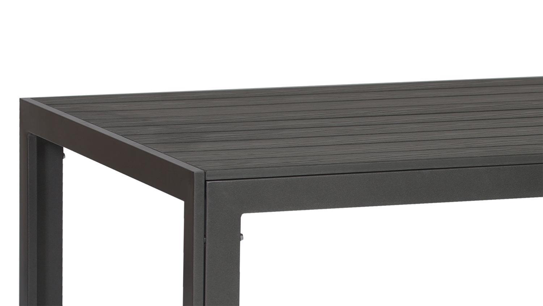 Esstisch Aluminium Polywood Anthrazit 200x100 Outdoor Geeignet