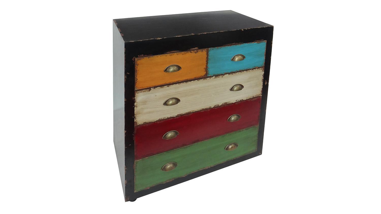 kommode anrichte mit bunten schubk sten metallgriffe vintage. Black Bedroom Furniture Sets. Home Design Ideas