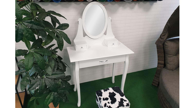schminkkommode frisiertisch mit spiegel aufbewahrung in wei. Black Bedroom Furniture Sets. Home Design Ideas