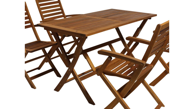Gartentisch Tisch Klapptisch Esstisch Akazie Massivholz Geolt 120x70