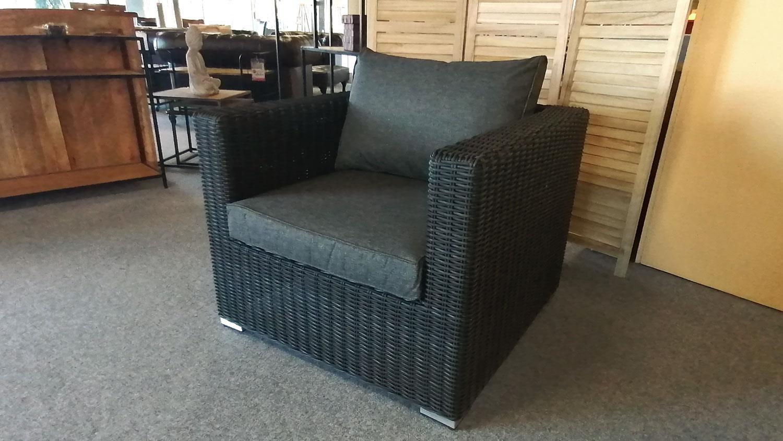 Loungesessel Polyrattan Einzelsessel Flexi Relaxsessel Garten Terrasse grau