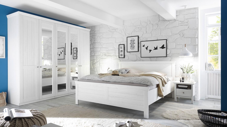 kleiderschrank bellevue schrank landhaus in pine wei mit. Black Bedroom Furniture Sets. Home Design Ideas