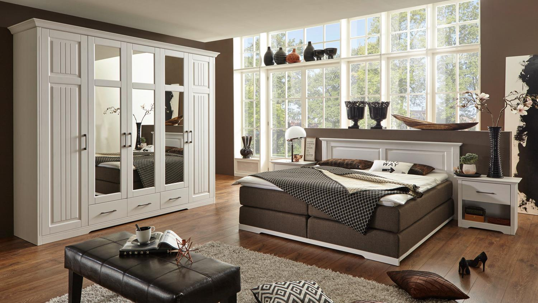 boxspringbett kalas bett schlafzimmerbett kiefer massiv wei 180x200. Black Bedroom Furniture Sets. Home Design Ideas