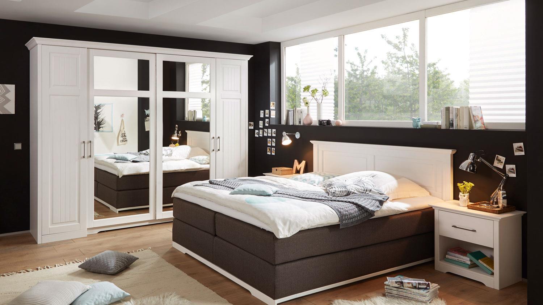 kleiderschrank landhaus kalas kiefer massiv wei spiegel. Black Bedroom Furniture Sets. Home Design Ideas