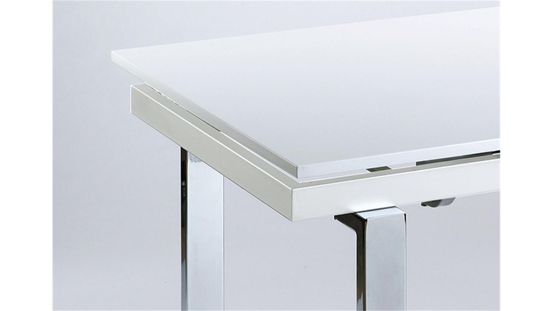 Esstisch Ausziehbar Metallgestell : esstisch vienna moderner esstisch in der farbe weiß hochglanz ...