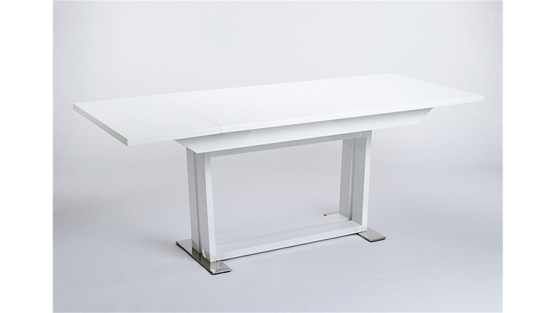 esstisch oslo wei hochglanz lackiert 160 205 ausziehbar. Black Bedroom Furniture Sets. Home Design Ideas