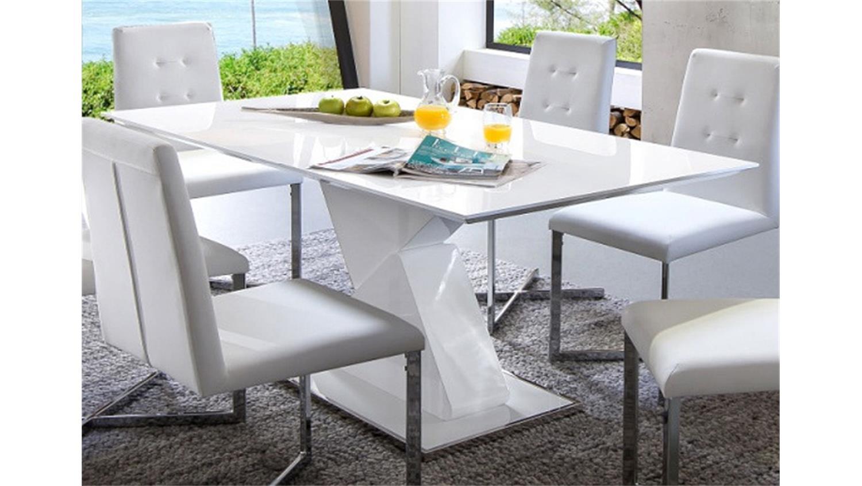 s ulentisch cube wei hochglanz lack 140. Black Bedroom Furniture Sets. Home Design Ideas