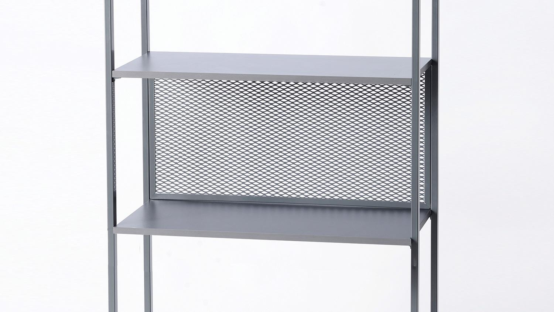 regal moreno 01 in stahl dunkelgrau aktenregal b cherregal. Black Bedroom Furniture Sets. Home Design Ideas