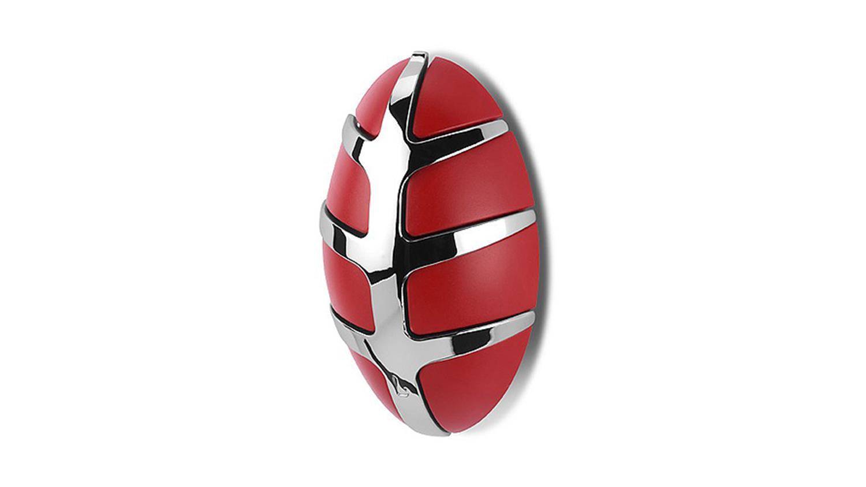 Garderobe bug spinder design wandgarderobe in rot und chrom for Garderobe chrom
