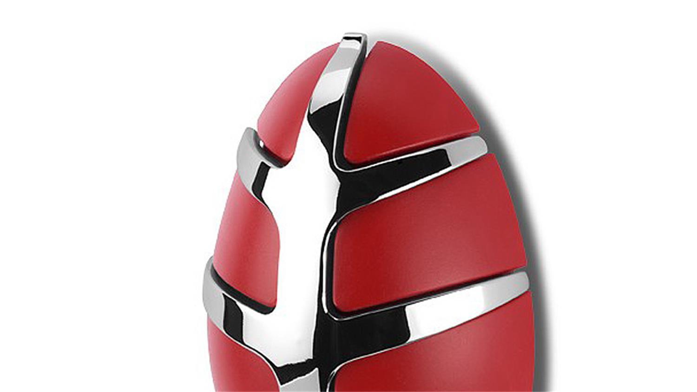 Garderobe bug spinder design wandgarderobe in rot und chrom for Garderobe rot
