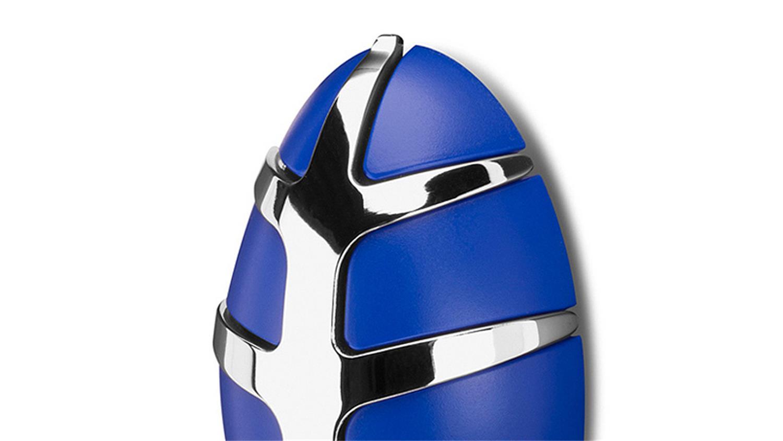 Garderobe bug spinder design wandgarderobe blau und chrom for Garderobe chrom
