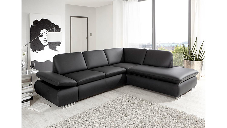 Ecksofa vigo wohnlandschaft sofa wohnzimmersofa in schwarz for Ecksofa wohnlandschaft