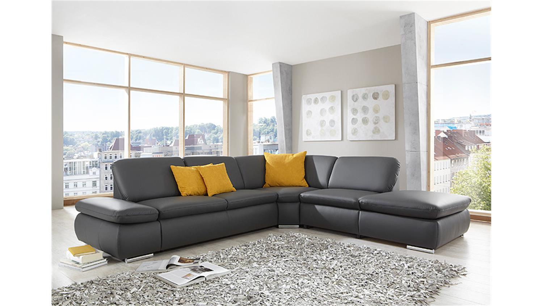 Ecksofa VIGO Wohnlandschaft Sofa in dunkelgrau 296 cm -> Ecksofa Wohnlandschaft